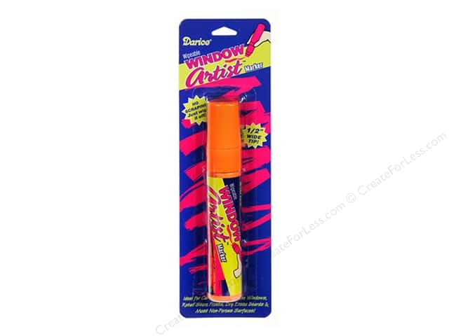Darice Window Artist Marker Orange Chalk