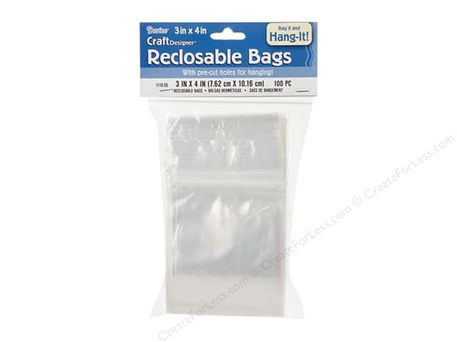 Darice Reclosable Storage Bags 3 x 4 in. 100 pc.