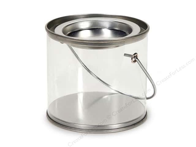 Darice See Thru Pail with Lid  3 x 2 5/8 in.