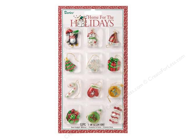 Darice Resin Ornaments Assorted Whimsical 12 pc.
