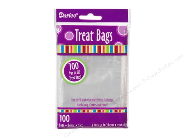 Darice Bag Treat 3 x 4 3/4 in. Clear 100 pc.