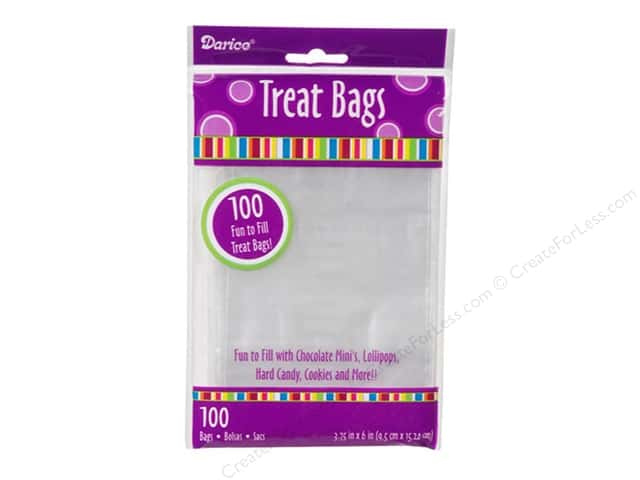 Darice Treat Bags 3 3/4 x 6 in. Clear 100 pc.