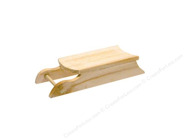 Darice Wood 3 3/4 in. Sled