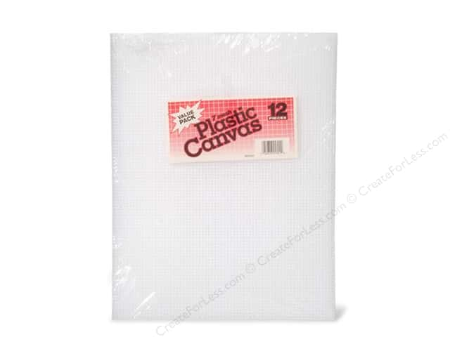 Darice Plastic Canvas #7 Mesh 10 1/2 x 13 1/2 in. Clear 12 pc.