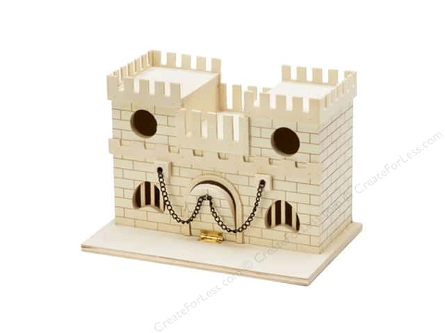 Darice Wood Castle Unfinished 9 1/2 x 6 1/2 x 6 1/8 in.