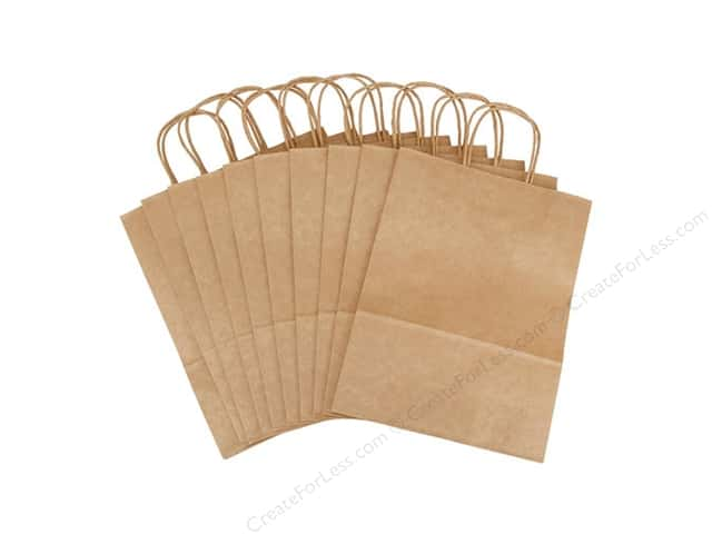 "Darice Paper Crafter Bag 9.75""x 12.75"" x 4.75"" Kraft 10pc"