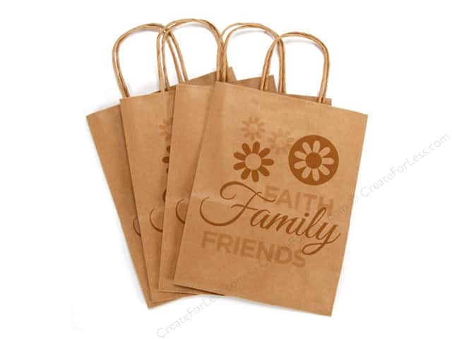 Darice Paper Crafter Bag 8 x 10 1/4 in. Faith Family Friends 4pc Kraft