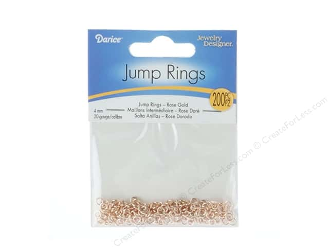 Darice Jewelry Designer Jump Rings 5/32 in. Rose Gold 200 pc.
