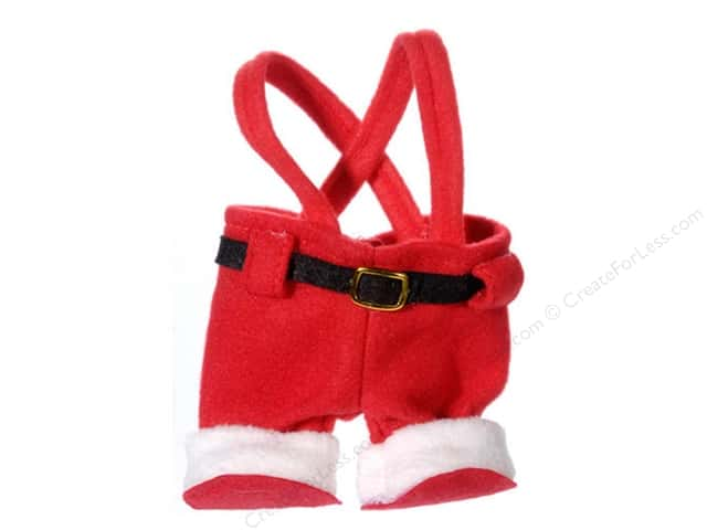 Darice Santa Pant Ornament Red Felt 4 3/4 x 2 x 7 in.