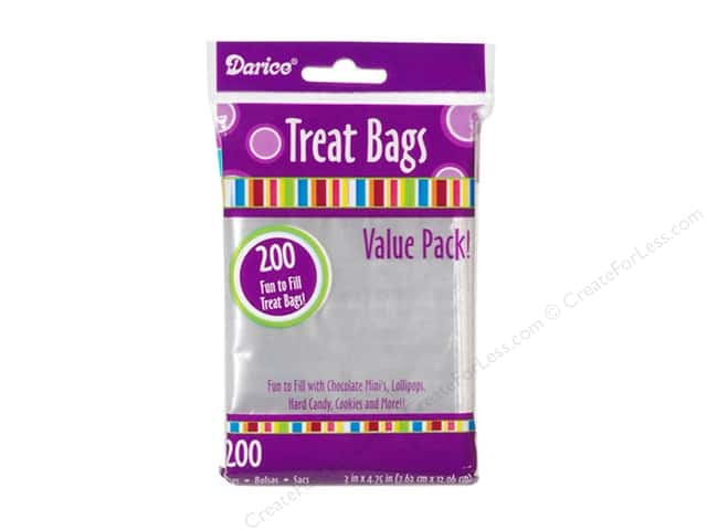 Darice Treat Bags 3 x 4 3/4 in. Clear 200 pc.