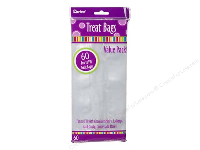 Darice Treat Bags 4 x 9 in. Clear 60 pc.