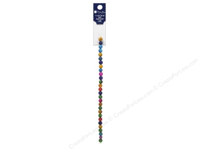 Blue Moon Beads Shell Bead Strand 7 in. Round Rainbow