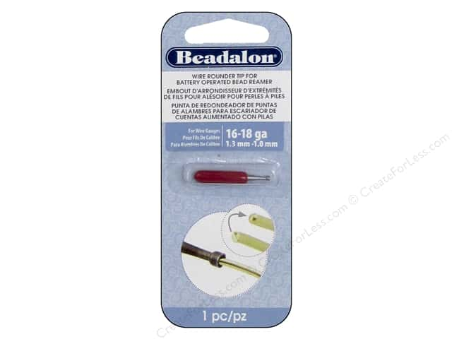 Beadalon Bead Reamer Wire Rounder Tip for 16 -18 Ga