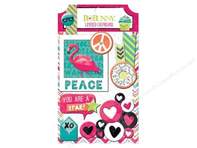 Bo Bunny Layered Chipboard Stickers Forever Young