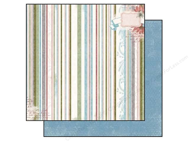 Bo Bunny 12 x 12 in. Paper Garden Journal Collection Stripe (25 sheets)