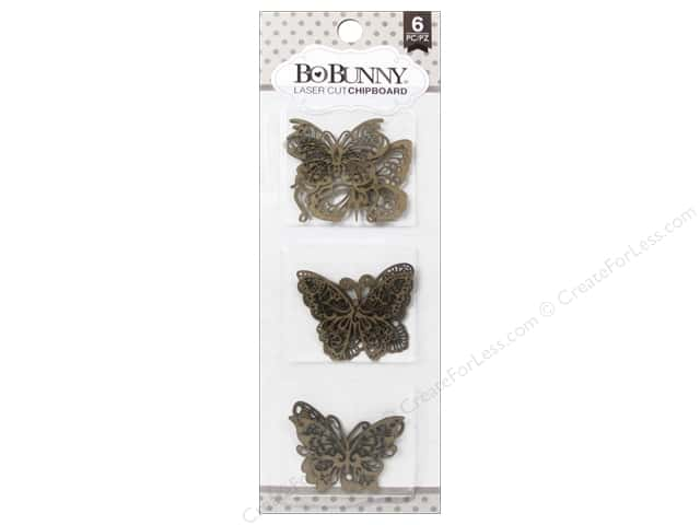 Bo Bunny Laser Cut Chipboard Butterfly