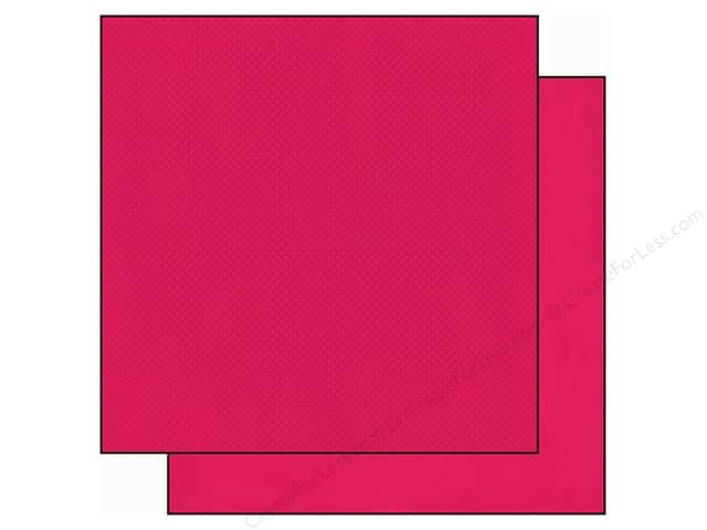 Bo Bunny 12 x 12 in. Paper Double Dot Hot Pink (25 sheets)