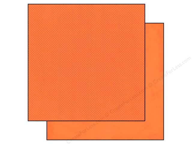 Bo Bunny 12 x 12 in. Paper Double Dot Tangerine (25 sheets)