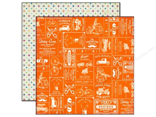Echo Park 12 x 12 in. Paper Jack & Jill Boy Collection Cars (25 sheets)