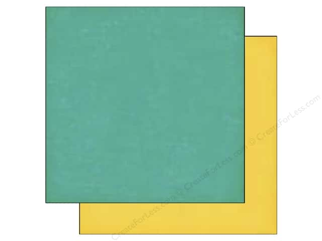 Echo Park 12 x 12 in. Paper Jack & Jill Girl Collection Teal/Yellow (25 sheets)