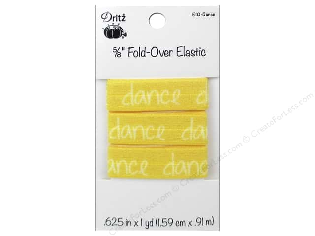 Fold-Over Elastic by Dritz 5/8 in. x 1 yd. Inspiration Dance
