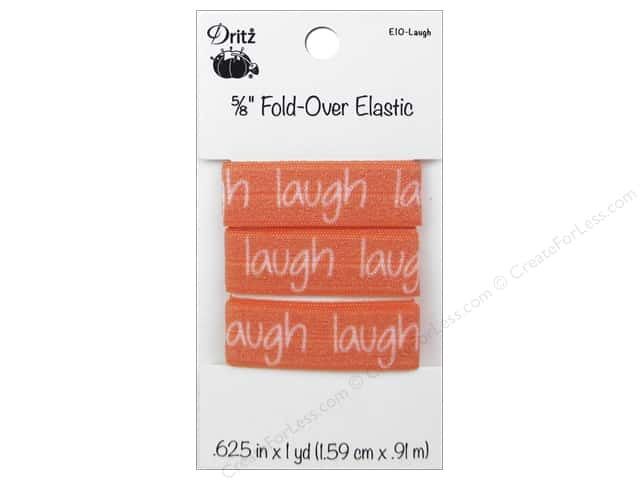 Fold-Over Elastic by Dritz 5/8 in. x 1 yd. Inspiration Laugh