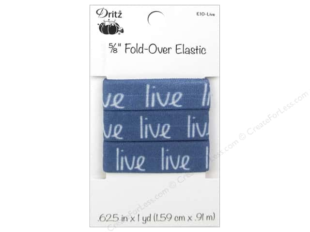 Fold-Over Elastic by Dritz 5/8 in. x 1 yd. Inspiration Live