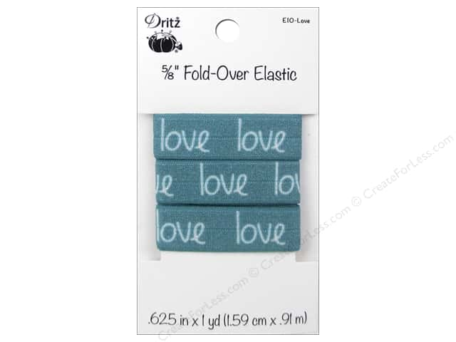 Fold-Over Elastic by Dritz 5/8 in. x 1 yd. Inspiration Love