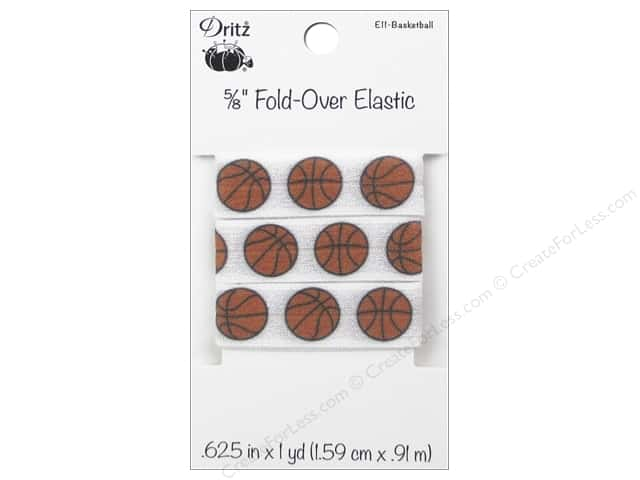 Dritz Elastic Fold Over 5/8 in. x 1 yd. Sports Basketball