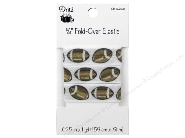 Dritz Fold-Over Elastic 5/8 in. x 1 yd. Sports Football