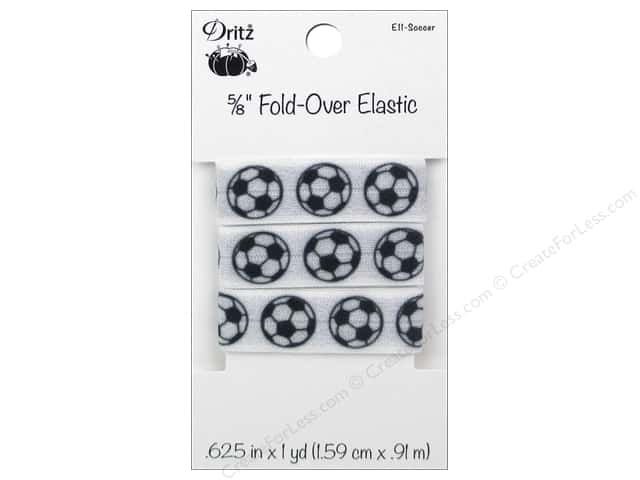Fold-Over Elastic by Dritz 5/8 in. x 1 yd. Sports Soccer