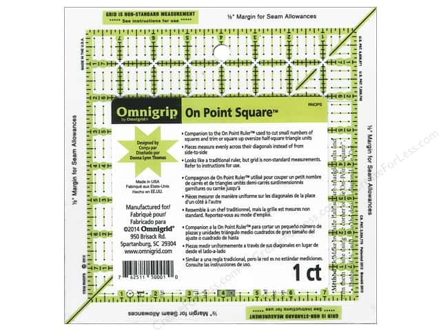 Omnigrid Omnigrip On Point Square Ruler