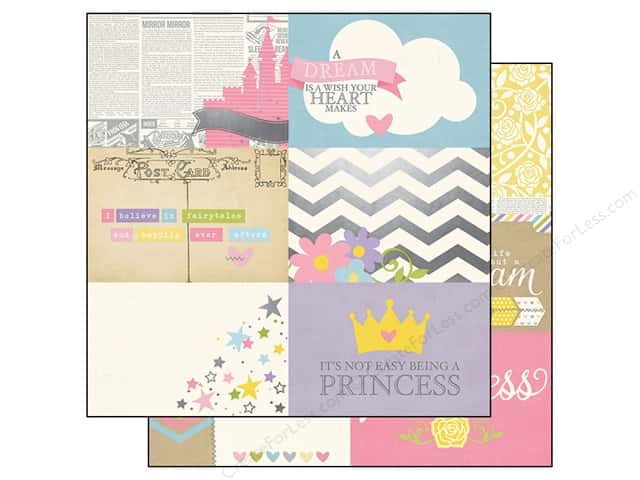 Simple Stories 12 x 12 in. Paper Enchanted Horizontal Journaling Card Elements 4 x 6 in. (25 sheets)