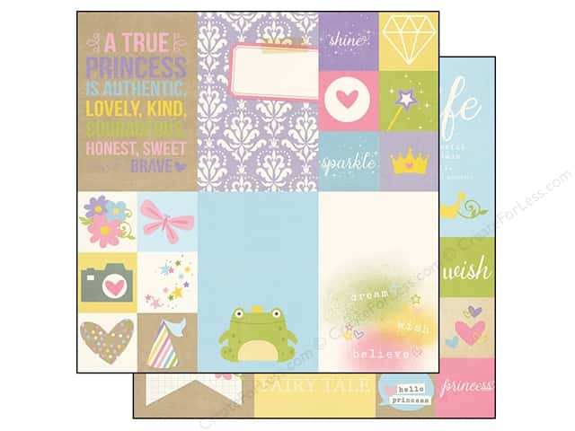 Simple Stories 12 x 12 in. Paper Enchanted Elements 2 x 2 in & 4 x 6 in. (25 sheets)