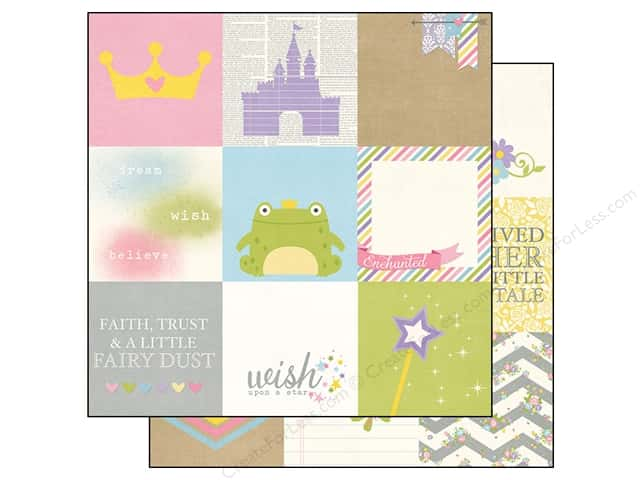 Simple Stories 12 x 12 in. Paper Enchanted Elements 4 x 4 in. (25 sheets)