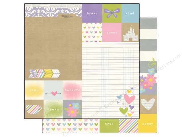 Simple Stories 12 x 12 in. Paper Enchanted Elements 2 x 2 in. & 6 x 8 in. (25 sheets)