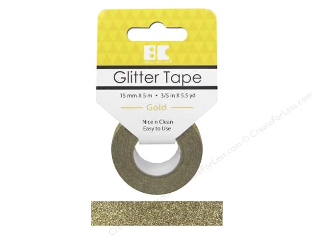 Best Creation Glitter Tape 5/8 in. x 5 1/2 yd. Gold