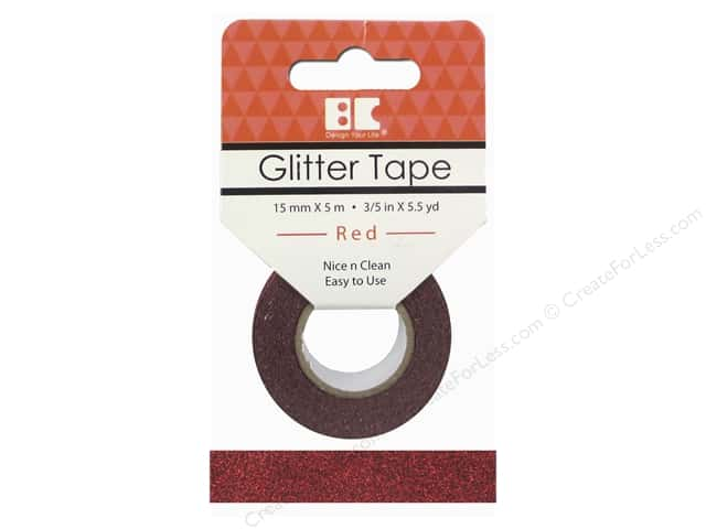 Best Creation Glitter Tape 5/8 in. x 5 1/2 yd. Red