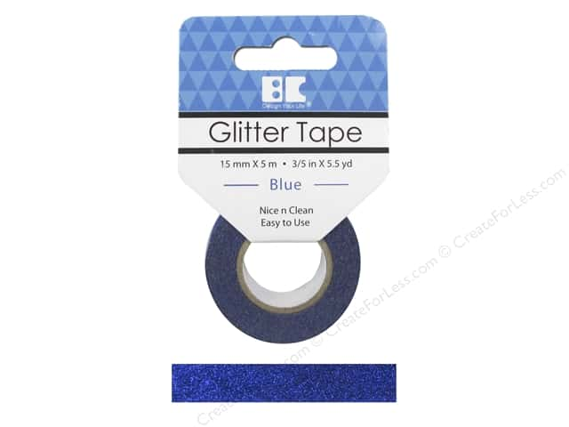 Best Creation Glitter Tape 5/8 in. x 5 1/2 yd. Blue