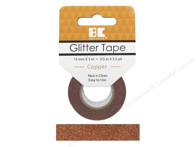 Best Creation Glitter Tape 5/8 in. x 5 1/2 yd. Copper