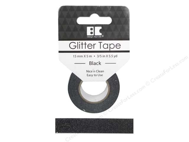 Best Creation Glitter Tape 5/8 in. x 5 1/2 yd. Black