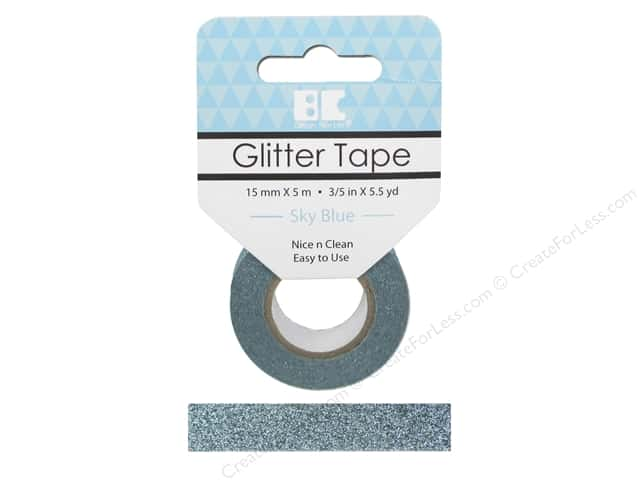 Best Creation Glitter Tape 5/8 in. x 5 1/2 yd. Sky Blue