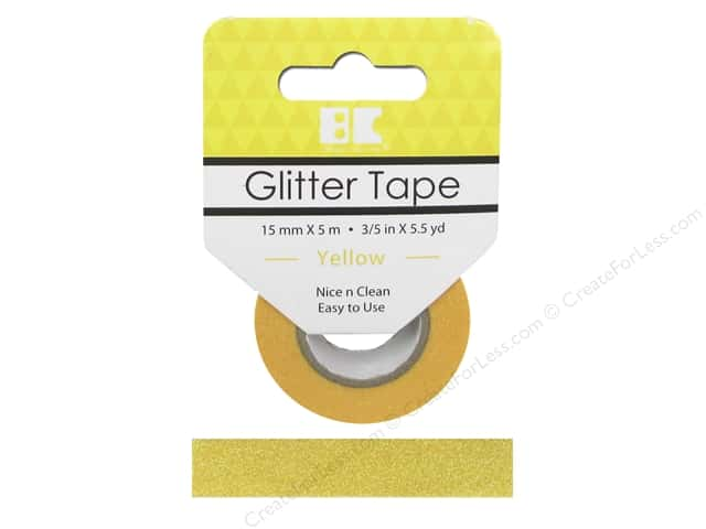 Best Creation Glitter Tape 5/8 in. x 5 1/2 yd. Yellow