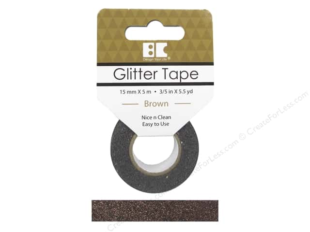 Best Creation Glitter Tape 5/8 in. x 5 1/2 yd. Brown