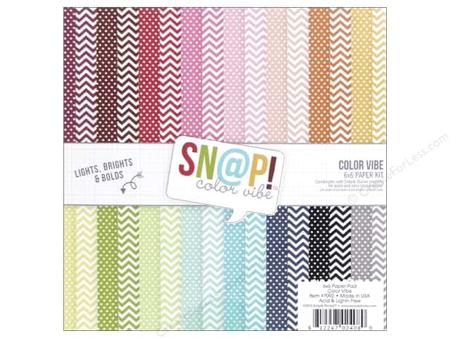 Simple Stories Paper Pad 6 x 6 in. SN@P! Color Vibe Collection II