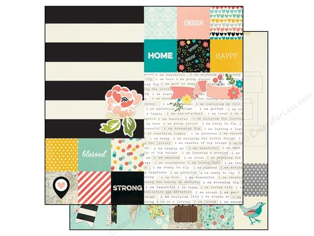 Simple Stories 12 x 12 in. Paper I AM Elements 2 x 2 in. & 6 x 8 in. (25 sheets)