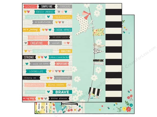 Simple Stories 12 x 12 in. Paper I AM Elements (25 sheets)