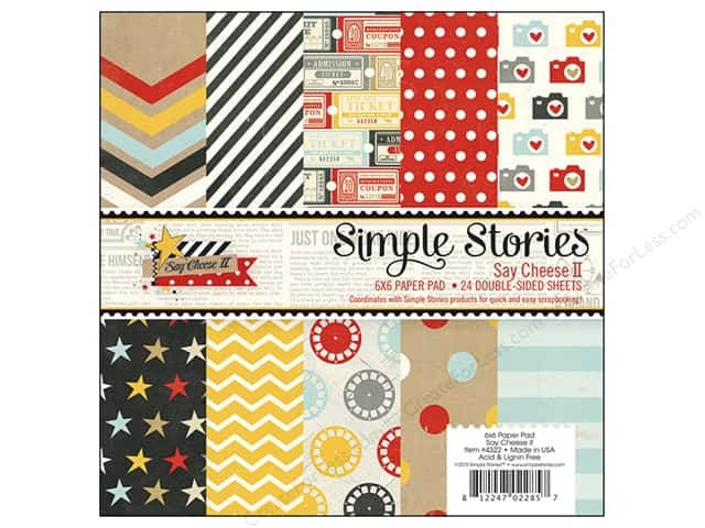 Simple Stories Paper Pad 6 x 6 in. Say Cheese II