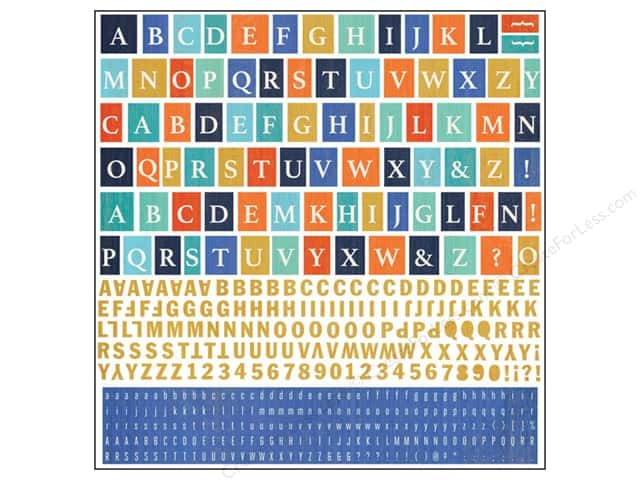 BasicGrey Alphabet Stickers Adrift (12 sheets)