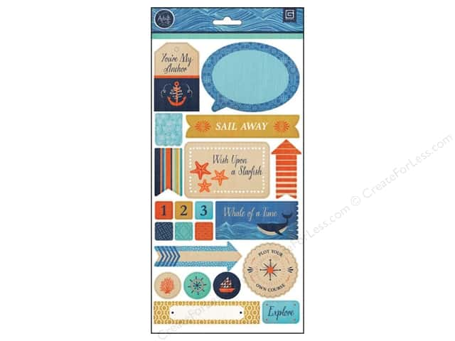 BasicGrey Title Stickers Adrift (12 sheets)